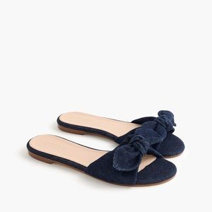 J. Crew denim knitted fabric slippers in size 7